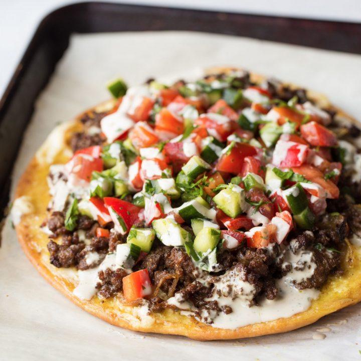 Shawarma Meat Pizza